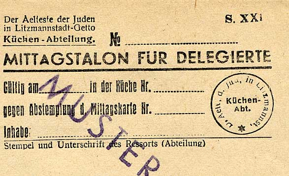 Lodz Ration Documents